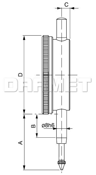 Electronic Indicator -10/0,01MM (540-105)