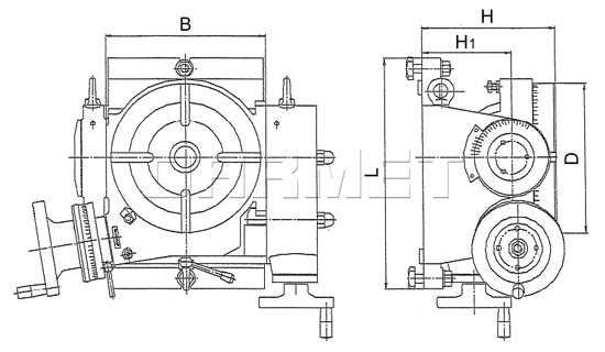 Tilting Rotary Machine Table
